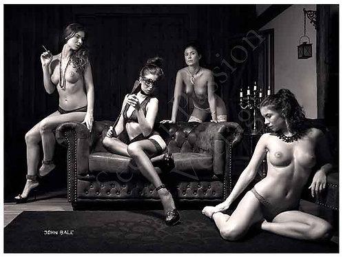 Print Nr.6 Poster 18x13cm erotisch nude art bdsm Domina Fotografie by John B