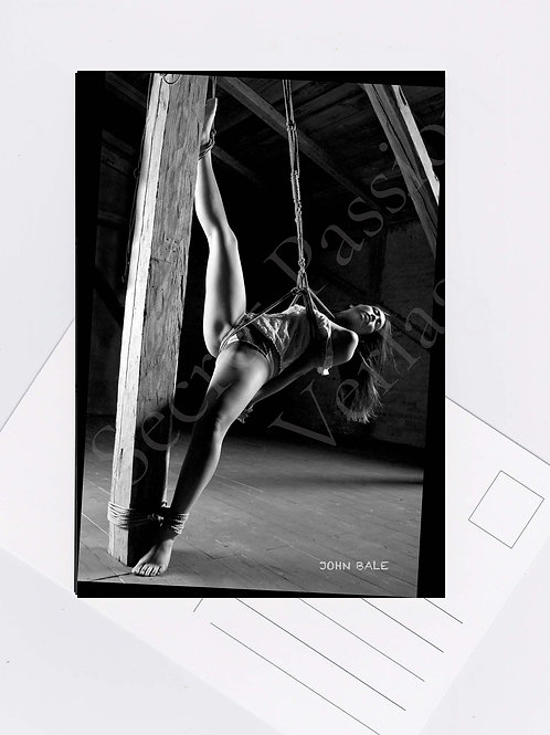 Postkarte Nr.29 bondage nude sexy Fotografie von John Bale 2015 photo art