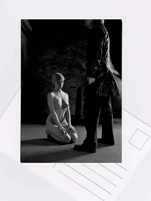 Postkarte Nr.3 bdsm devot spanking fetish nude Fotografie von John Bale 2014