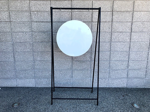 Black & White hanging Welcome Sign with Custom Decals