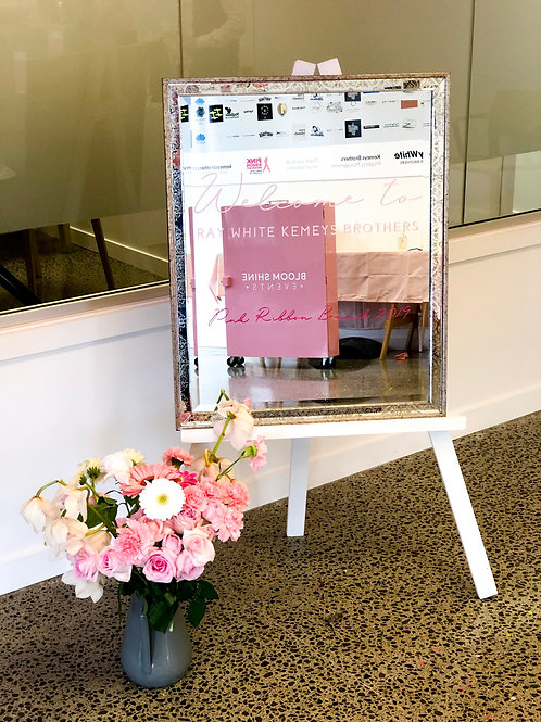 Mirror Welcome Sign with Custom Decals