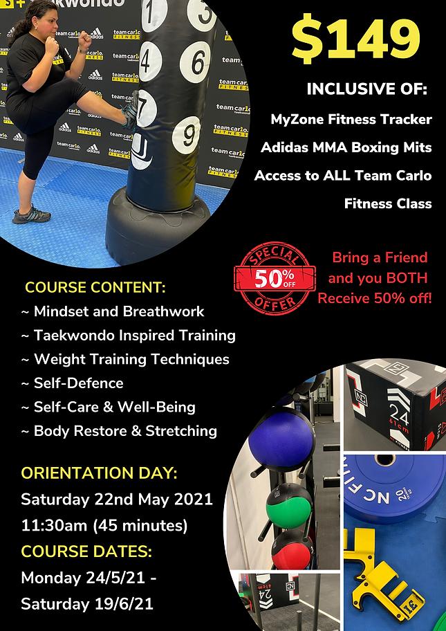 4 Week Self-Defence & Wellness Course Po
