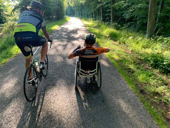 Jesper Overgaard en handbiker i TMCK