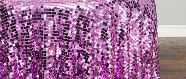 ROUND PAYETTE SEQUIN TABLECLOTH IRIDESCENT