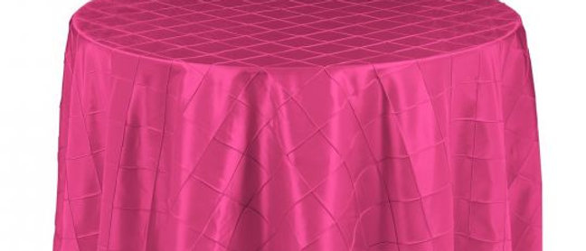 108 IN. ROUND PINTUCK TABLECLOTH DIFFERENT COLORS