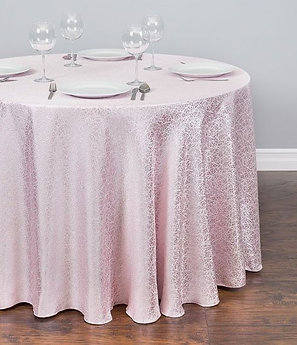 ROUND SILK EMBROIDERED POLYESTER TABLECLOTH