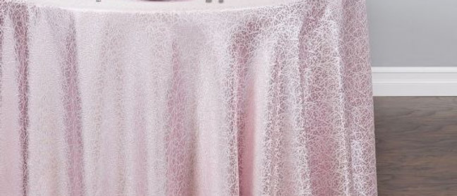 Party Rental Store ROUND ABSTRACT SILK EMBROIDERED POLYESTER TABLECLOTH