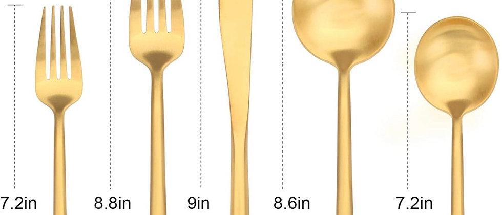 Modern luxury Matte Gold Silverware