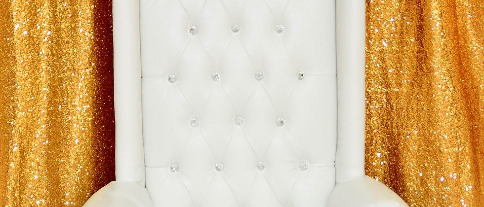 White Princess Throne Sofa Chair