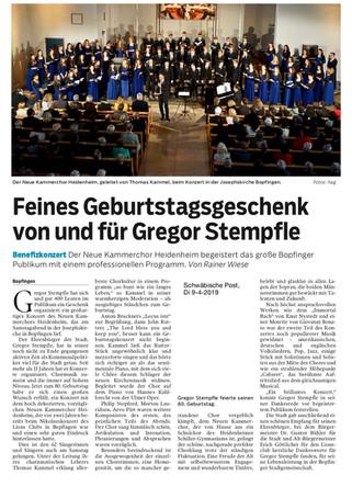 Feines Geburtstagsgeschenk von und für Gregor Stempfle