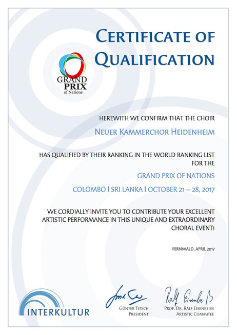 Qualifikation für den Grand Prix of Nations in Colombo - Sri Lanka 2017
