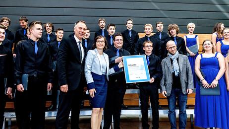 Der Neue Kammerchor Heidenheim ist Patenchor des renommierten SWR Vokalensembles Stuttgart in der Sa