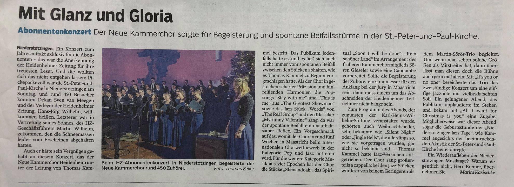 Heidenheimer Zeitung 8. Jan 2019