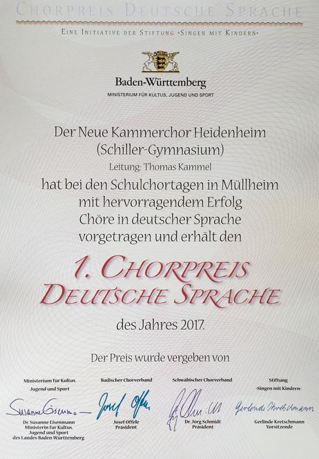 Preisträger des Landes Baden-Württemberg