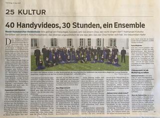 40 Handyvideos, 30 Stunden, ein Ensemble