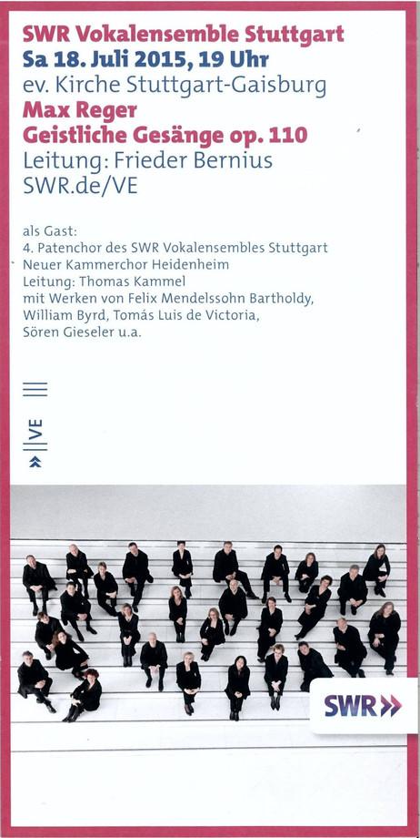 Konzert mit dem SWR Vokalensemble Stuttgart und dem NEUEN   HEIDENHEIM