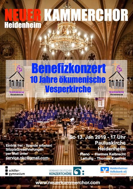 Benefizkonzert: 10 Jahre ökumenische Vesperkirche Heidenheim