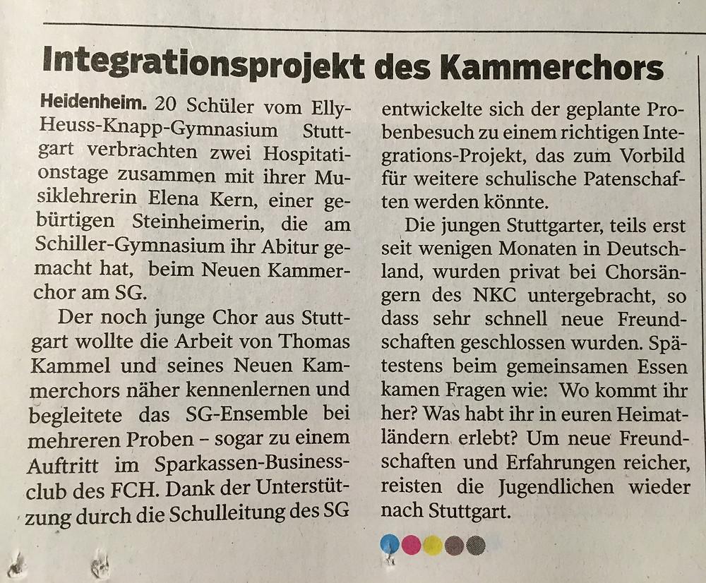 Heidenheimer Zeitung, 25. Okt 2016