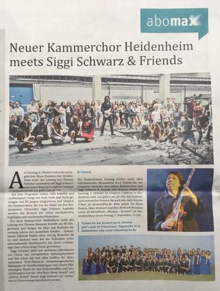 Neuer Kammerchor Heidenheim meets Siggi Schwarz & Friends