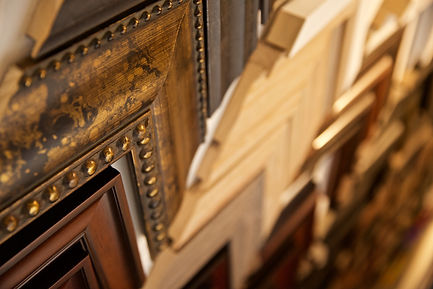 Traditional wood frame choices.