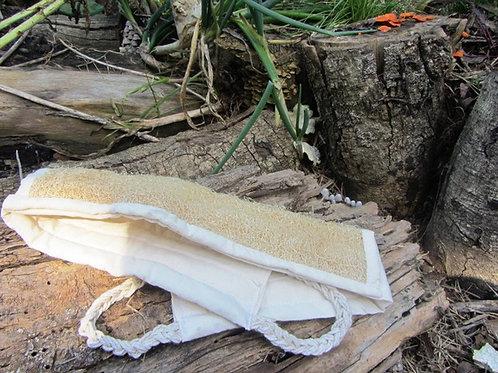 Bucha de Banho Vegetal com alças para as Costas
