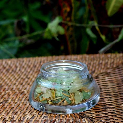 Sal Cristal para Banho/ Escalda pés Alecrim -Pequeno