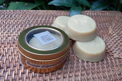 Manteiga Sólida Corporal e Capilar 100% Natural Vegana