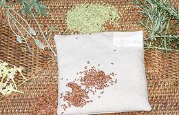 Almofadas Terapêuticas de Linhaça e Ervas - Quadrada