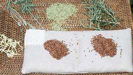 Almofadas Terapêuticas de Linhaça e Ervas - Retangular