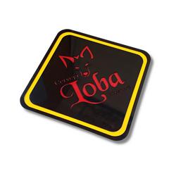 Placa com a logo em acrílico color