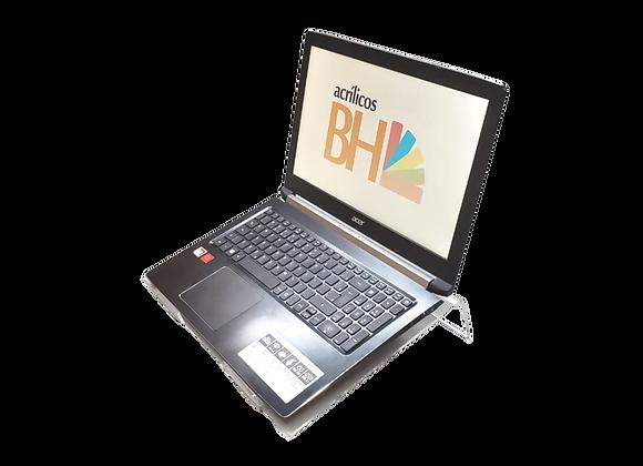 Suporte para Notebook em acrílico cristal 4mm, de 40x28x7cm