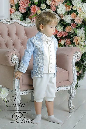 Royal outfit for boy in Pale Blue color