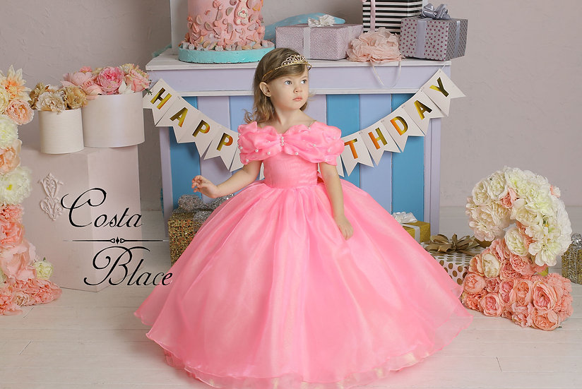 Deluxe Rose Pink ball gown for girl