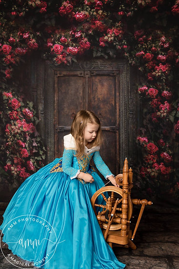 Blue Princess Aurora dress for girl