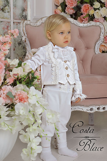 White Baptism outfit for baby