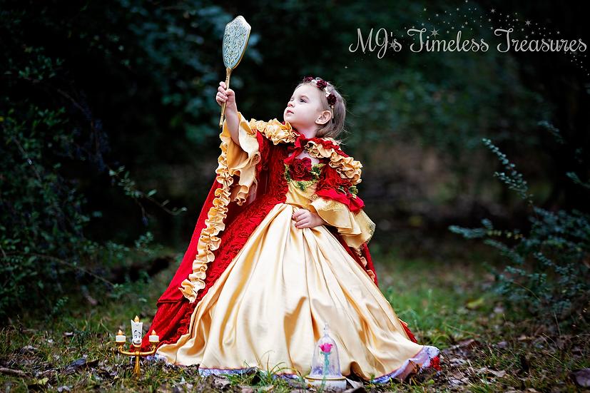 Christmas Princess Belle dress