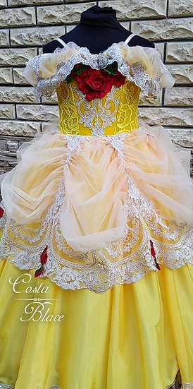 Princess Belle dress in soft gold