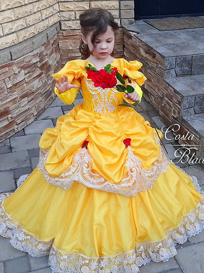 Princess Belle yellow dress