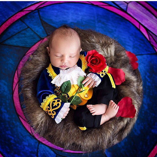 Beast costume for newborn baby Beauty the Beast Halloween outfit