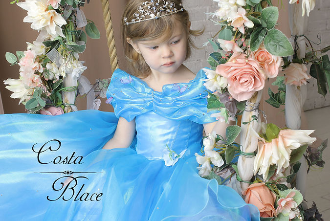 Blue Flower Girl dress COSTA BLACE coutu