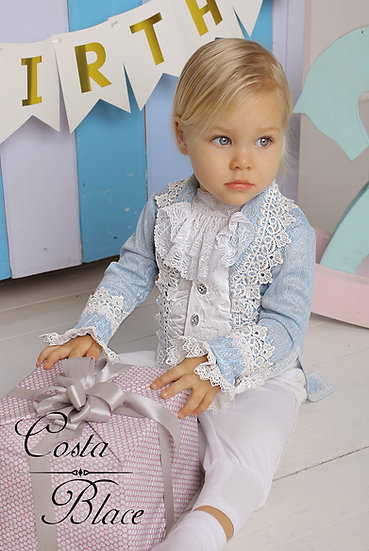 Sparkling suit for baby in a baby blue color