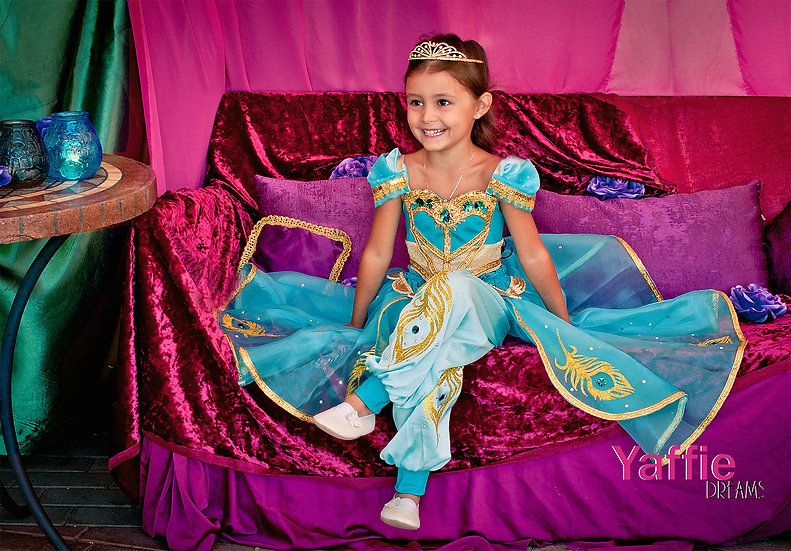 Princess Jasmine costume for girl. Two piece outfit.