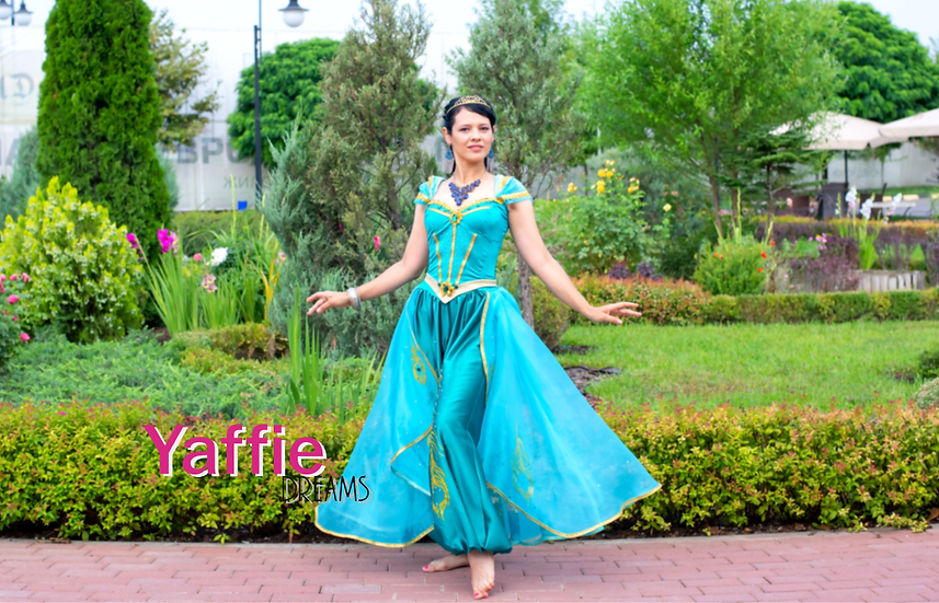 Princess Jasmine costume for adult. Inspired by Aladdin 2019 movie