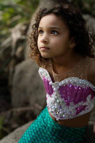 Purple Mermaid Top. Princess Ariel costume