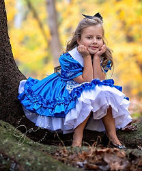 alice in wonderland dress halloween cost