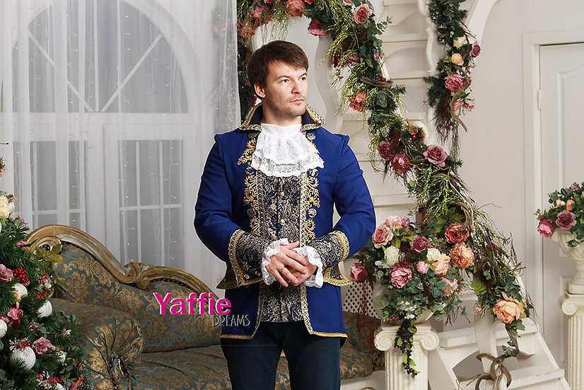 Royal Jacket for man. Inspired by Beauty and the Beast disney movie.