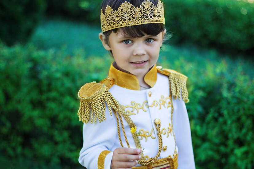 Prince Charming costume in white and gold