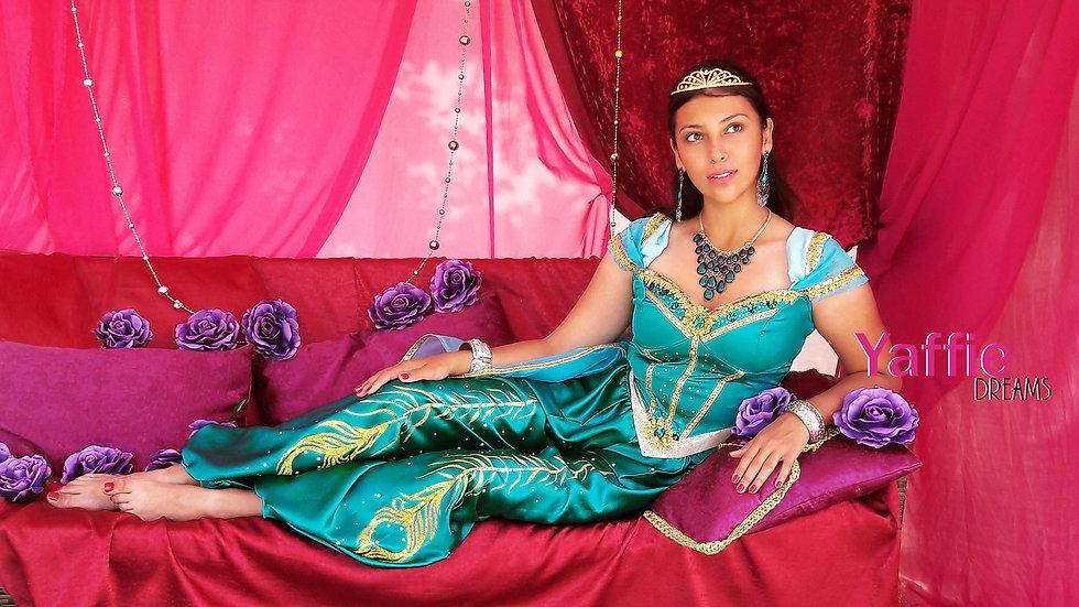 Princess Jasmine costume for adult. Inspired by Aladdin 2019 movie