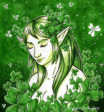 Shamrock Elf Lady