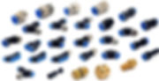 Conexões pneumáticas instantâneas em americana, espigão fixo americana, espigão americana, luvas de redução americana, nipple americana